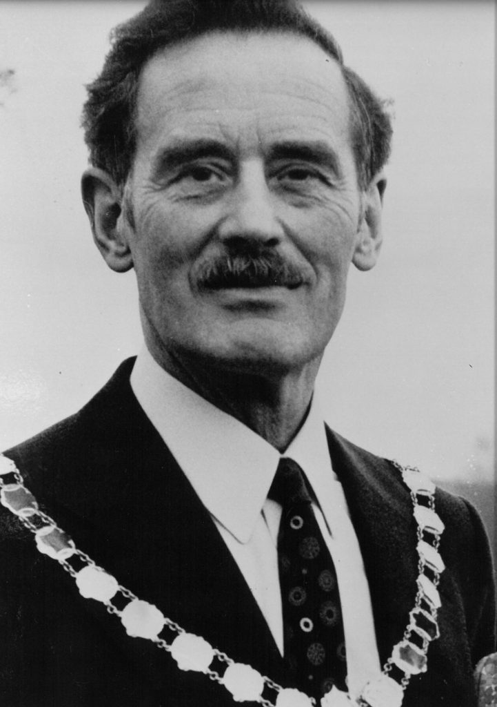Mayor 1976-77 D.W. Millington