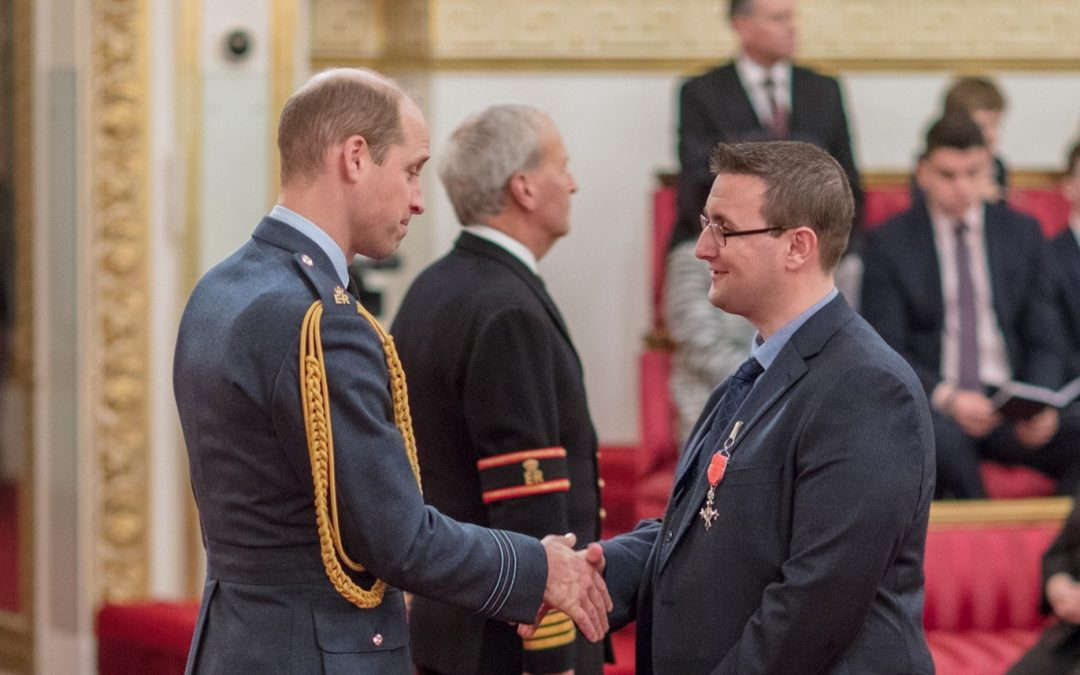 Matt Smith receives MBE