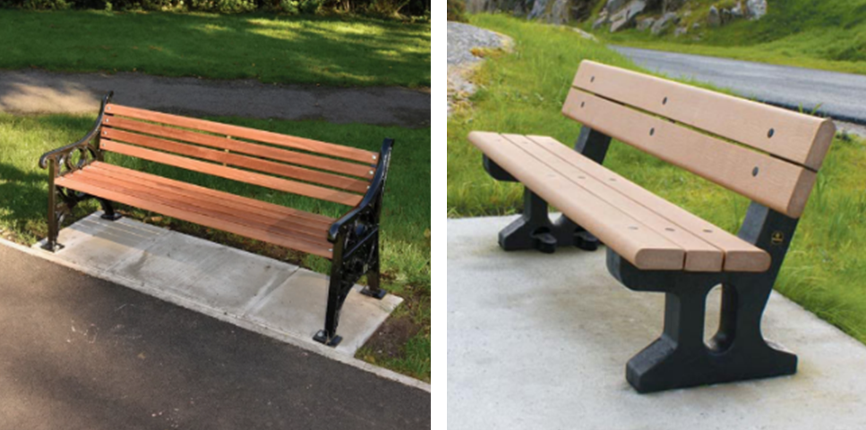 The two Memorial Benches available to purchase
